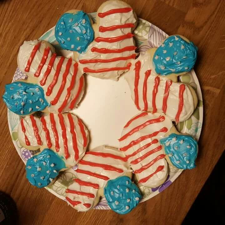 4th of July Mickey Mouse Cookies