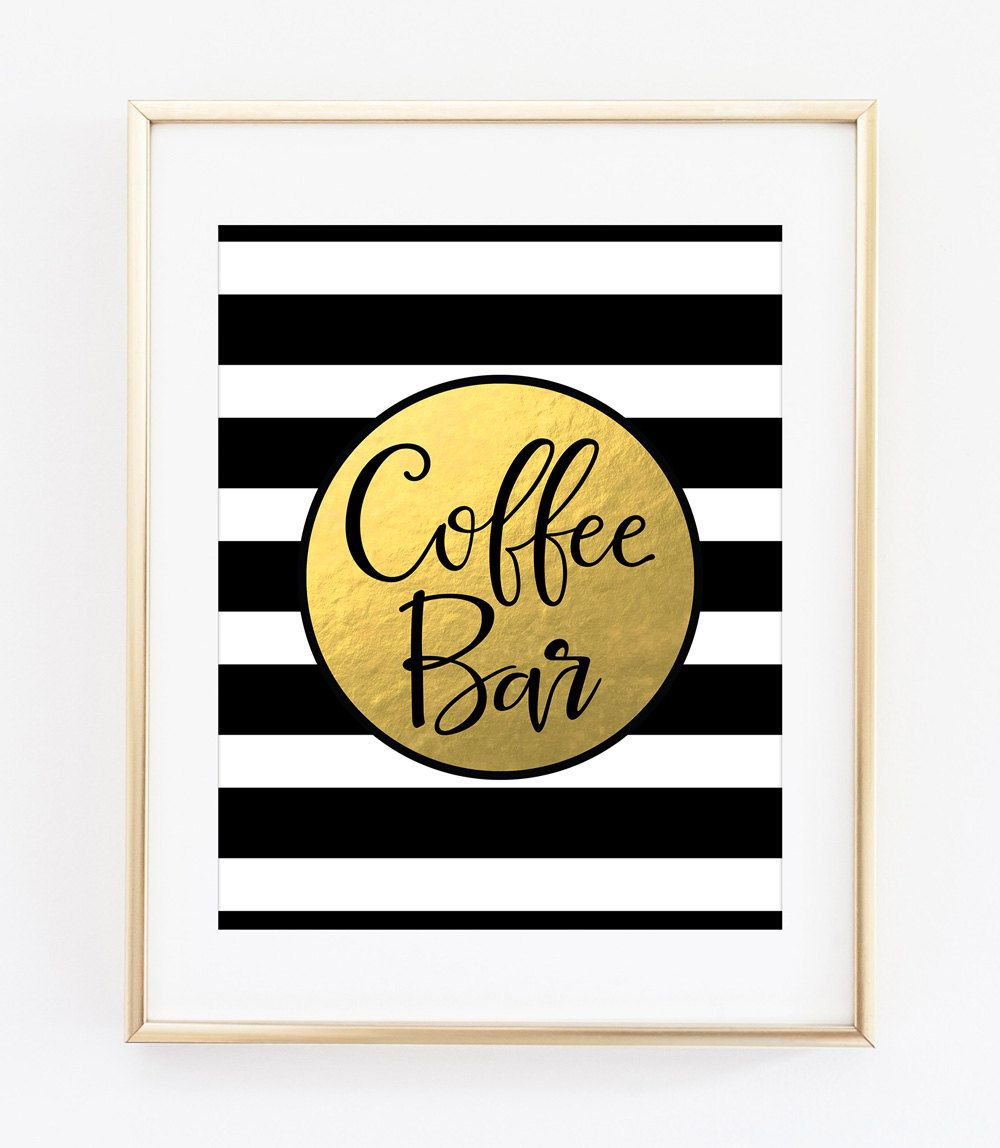 Coffee Bar Sign Printable Art Print Coffee Bar Decor Coffee Station ...