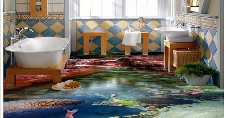 Awesome Collection Of 3D Floor Murals Painting Design Images With Self Leveling Epoxy Flooring For All Rooms Bathroom And Ot