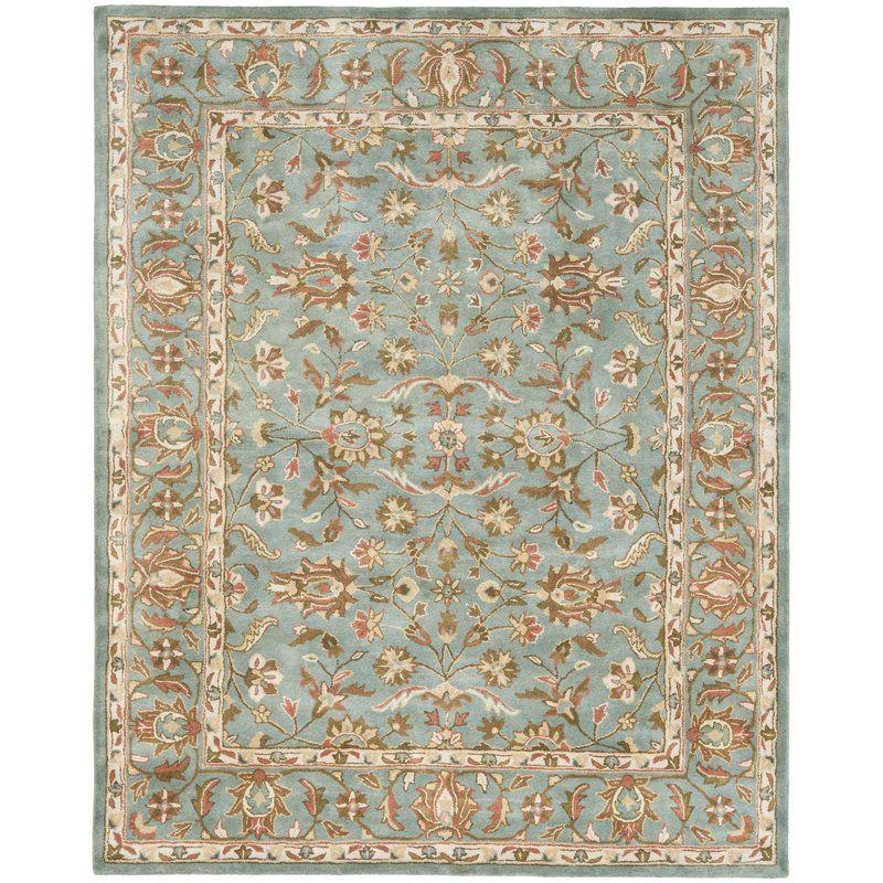 Cranmore Oriental Handmade Tufted Wool Blue Area Rug Wool Area