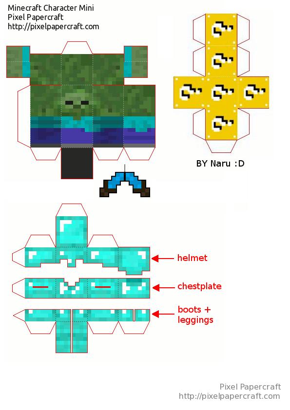 Papercraft Mini Bob (Lucky blocks mod)  1c5a8f5ccf1