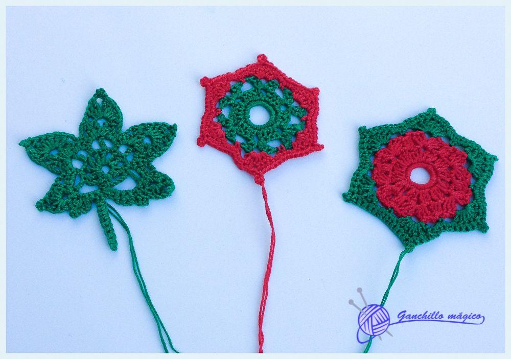 motivos navideños de ganchillo Mis Promociones Pinterest