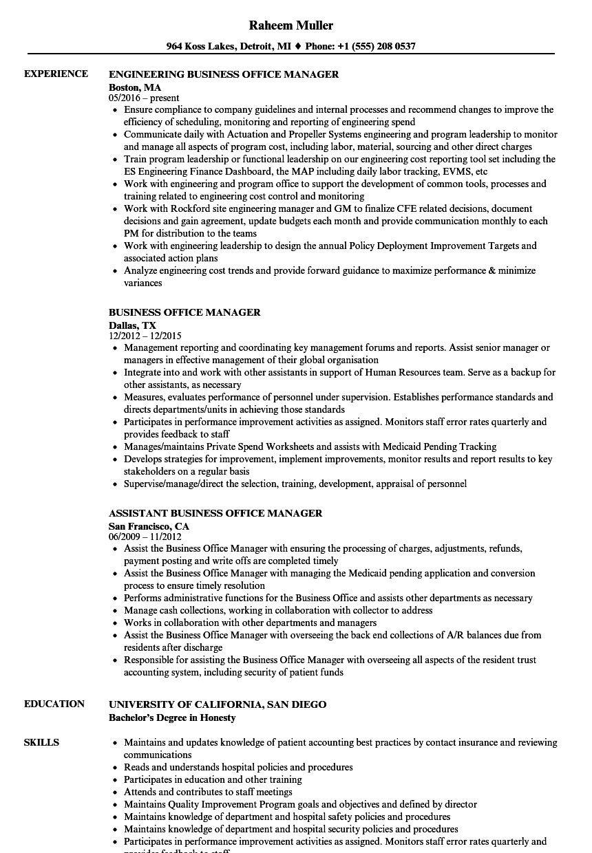 Sample Office Manager Resume Unusual Sample Resume