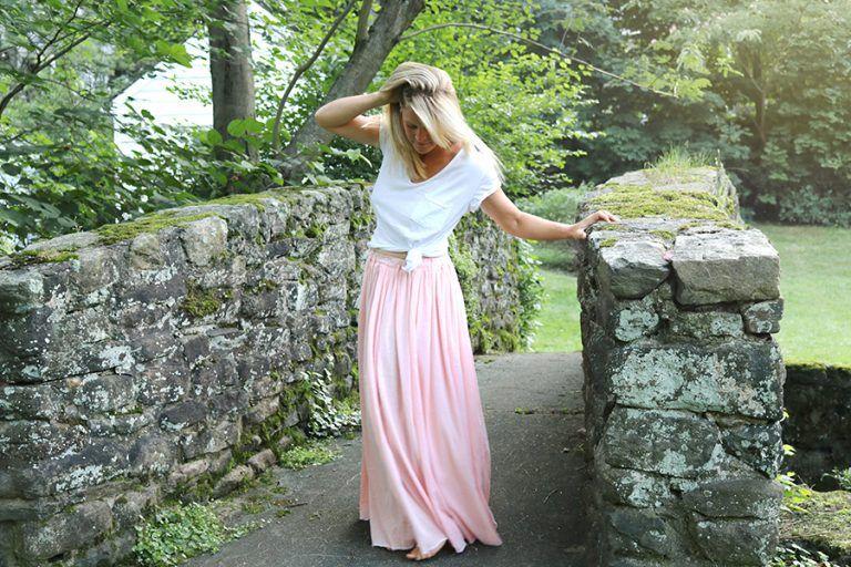 Gauze Maxi Skirt DIY | Pinterest