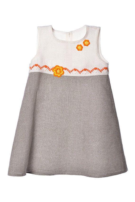 Girls Dress. Girls Linen Dress. by LinenClothingMarket on Etsy