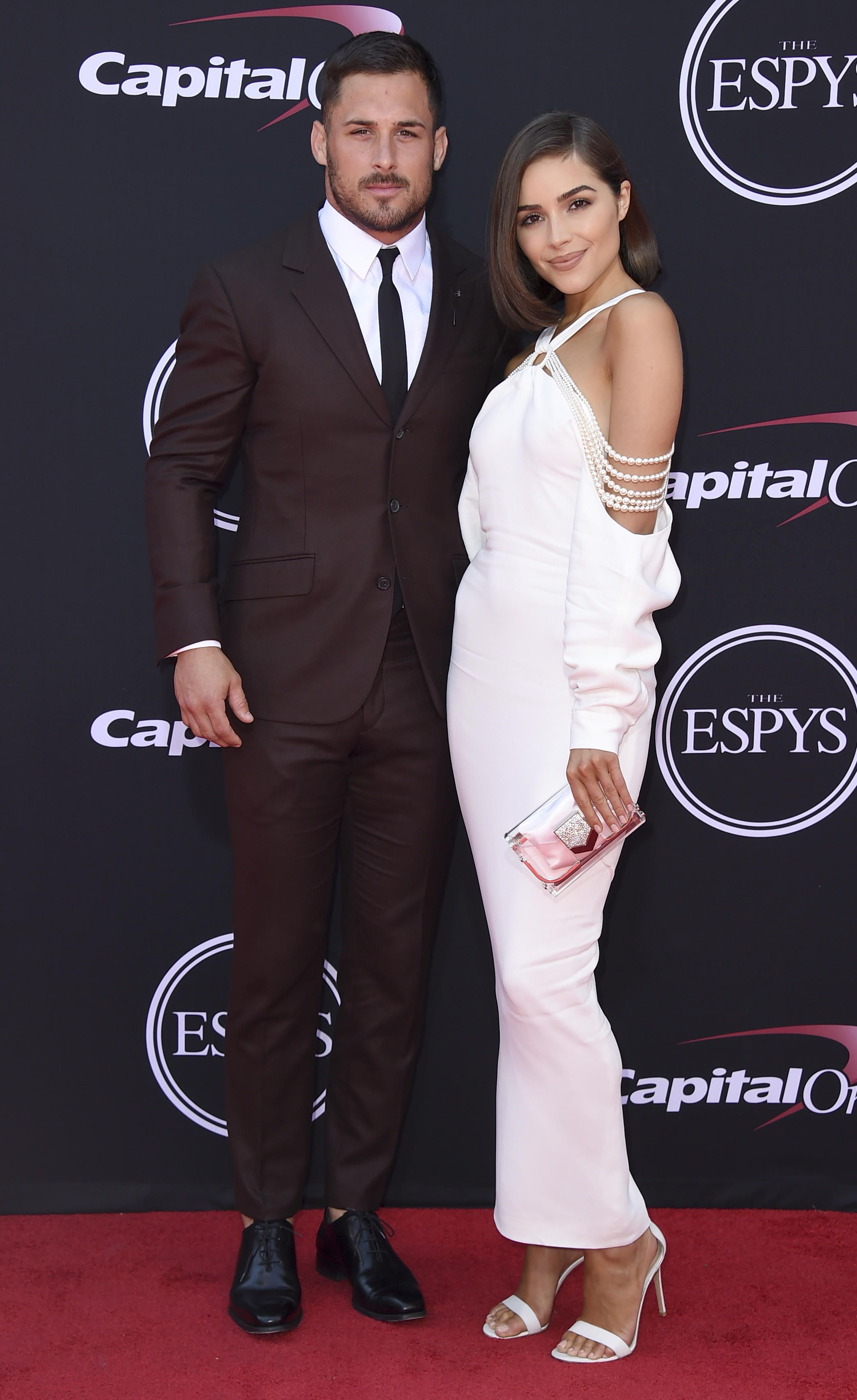 Patriots Hit The Red Carpet At The Espys Red Carpet Celebrity Couples Olivia Culpo