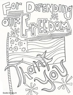 Veterans Day Free Coloring sheet