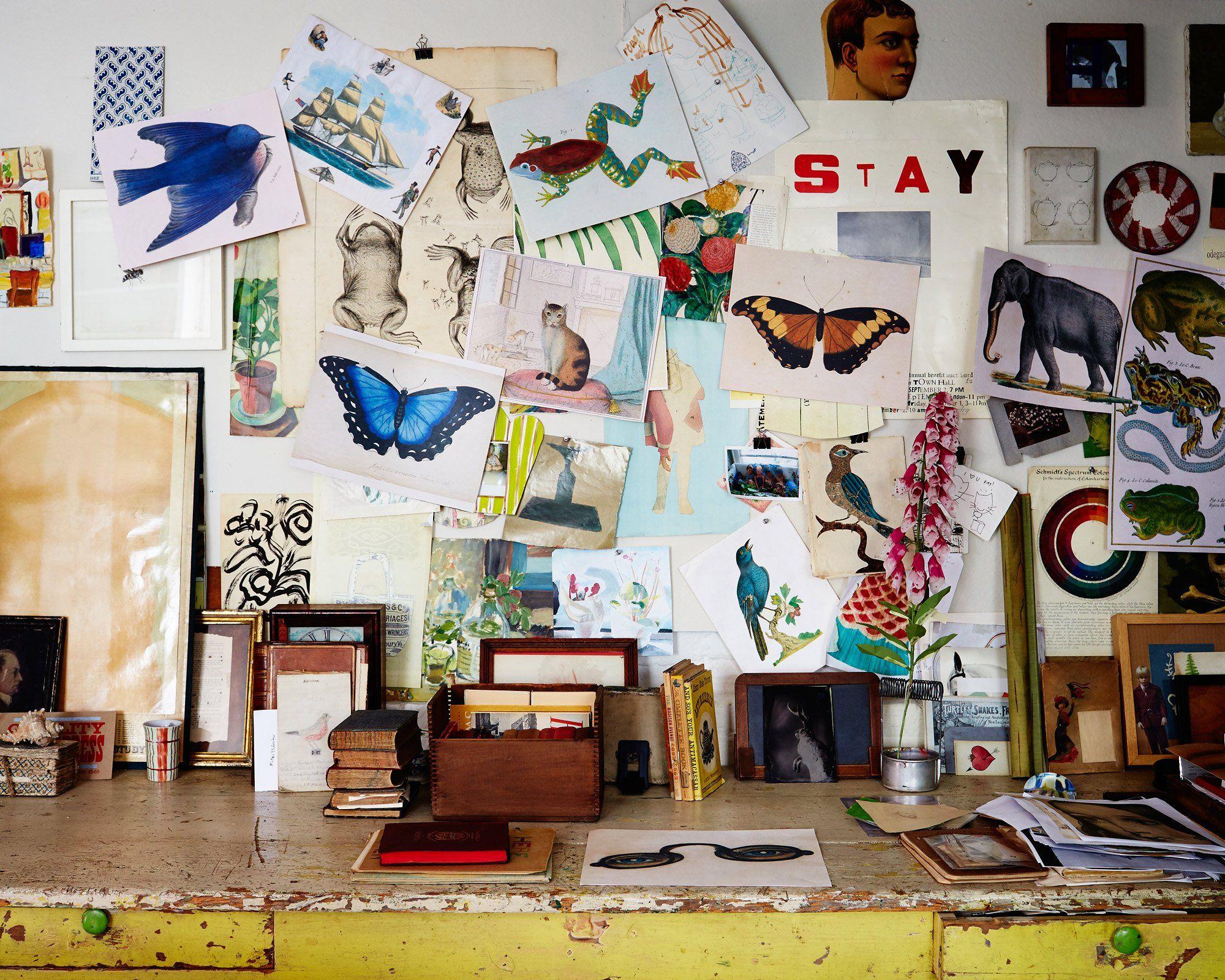 John Derian's studio
