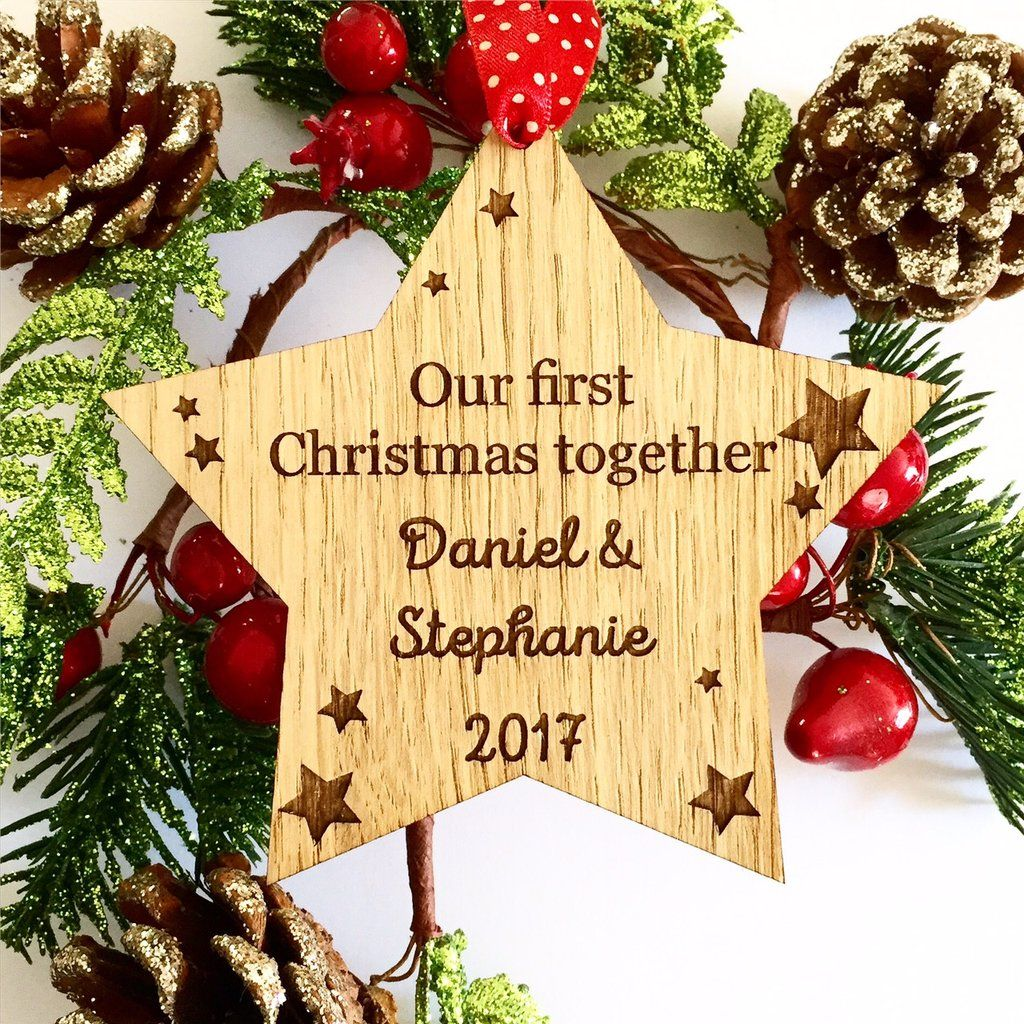 Personalised First Christmas Together Decoration First Christmas as ...