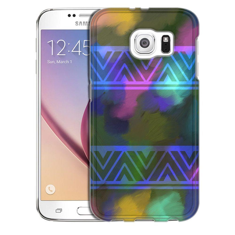 Samsung Galaxy S6 Neon Watercolor Aztec Print Slim Case