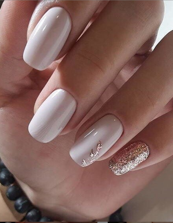24 Elegant Acrylic White Nail Design For Short Square Nails In Summer Page 23 Of 24 Latest Fashion Trends For Woman White Acrylic Nails Short Square Nails Square Nails