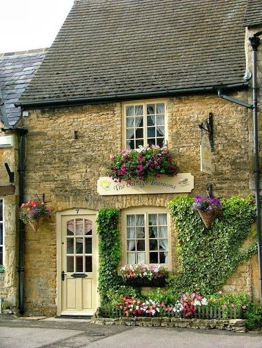 This is a lovely place to stop for a spot of afternoon tea.  The Cottage Tearooms, The Cotswolds, England.