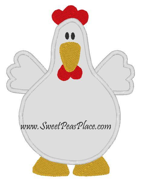Free Chicken Applique Patterns Chicken Applique Embroidery Design