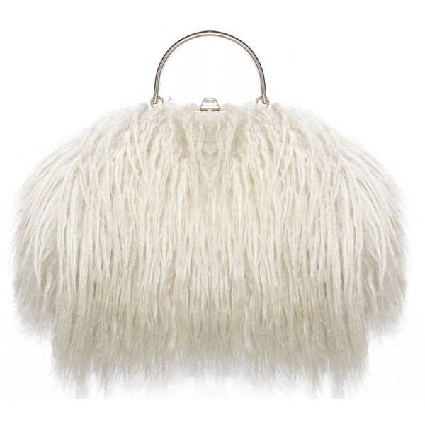 Preowned Fine And Rare 1960s Xl Mongolian Lamb Fur Purse Bag 8 130 Bam Liked On Polyvore Featuring Bags Handbags Beige Pre Owned Purses