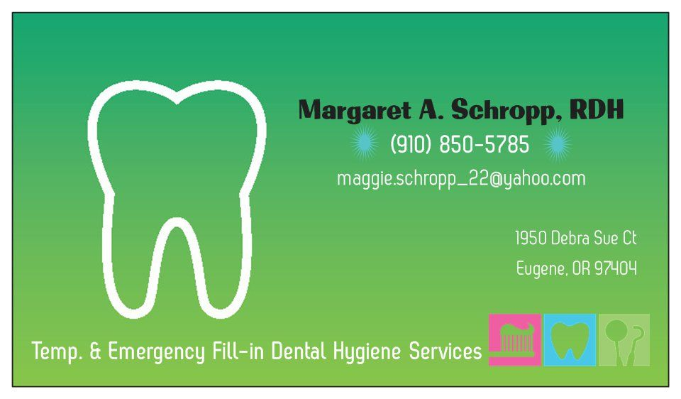Dental Hygienist Business Card... Hoping it stands out & isn\'t just ...