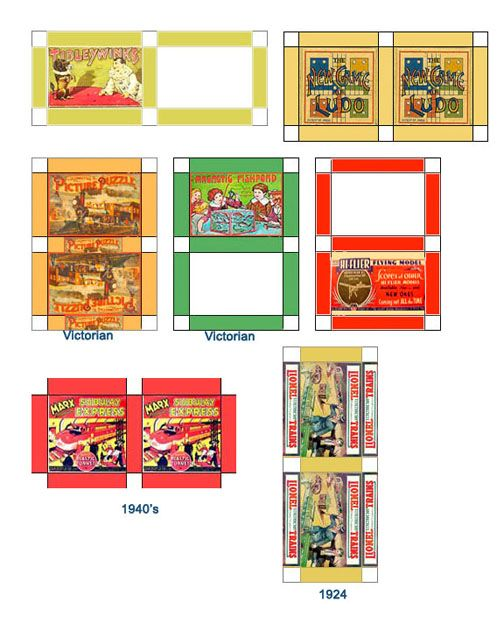 Dollhouse Printables: Dolls House Miniature Printable Games Pre-1950