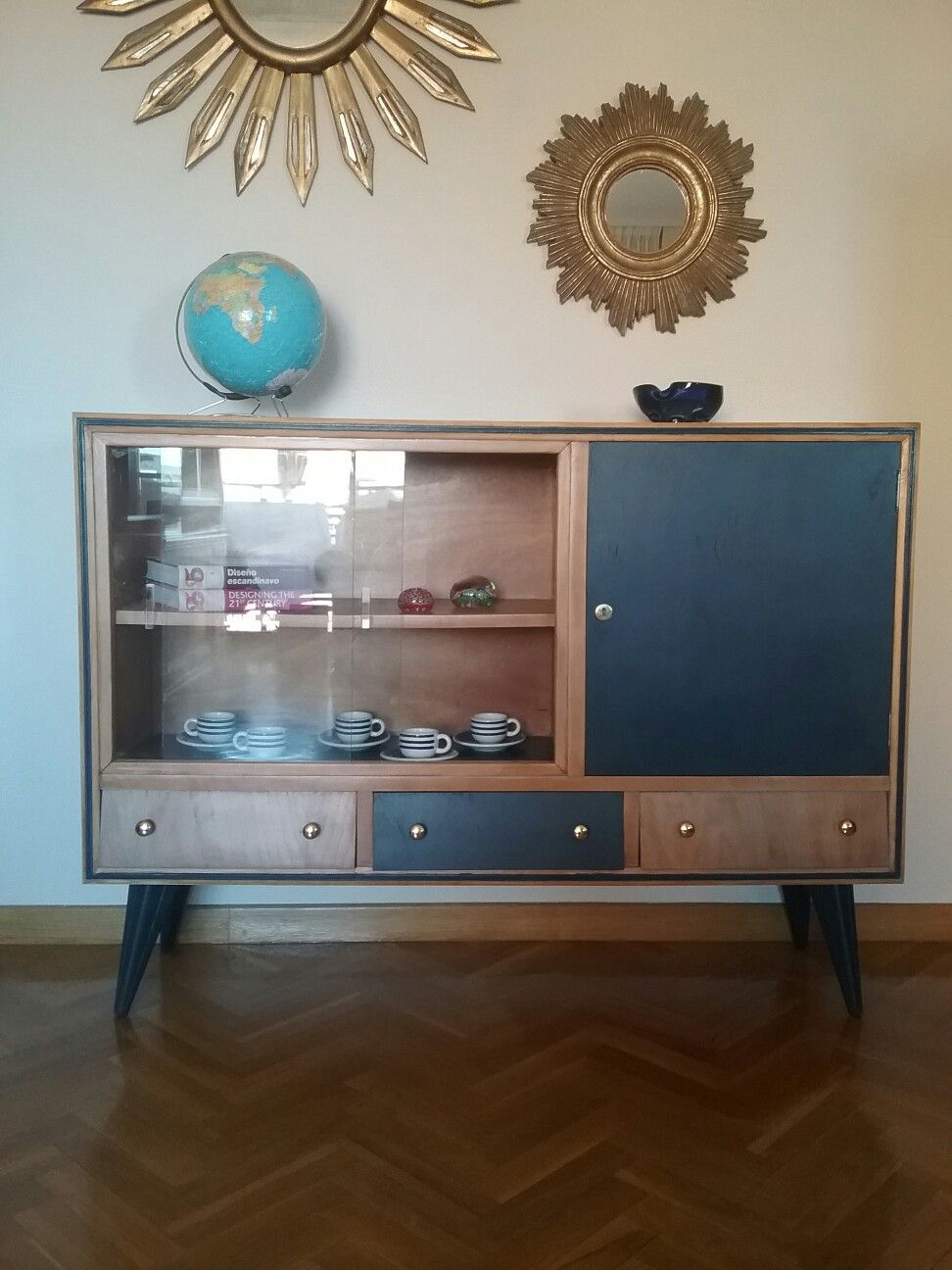 Aparador mueble bar circa a os 50 restaurado por style - Muebles anos 50 madrid ...