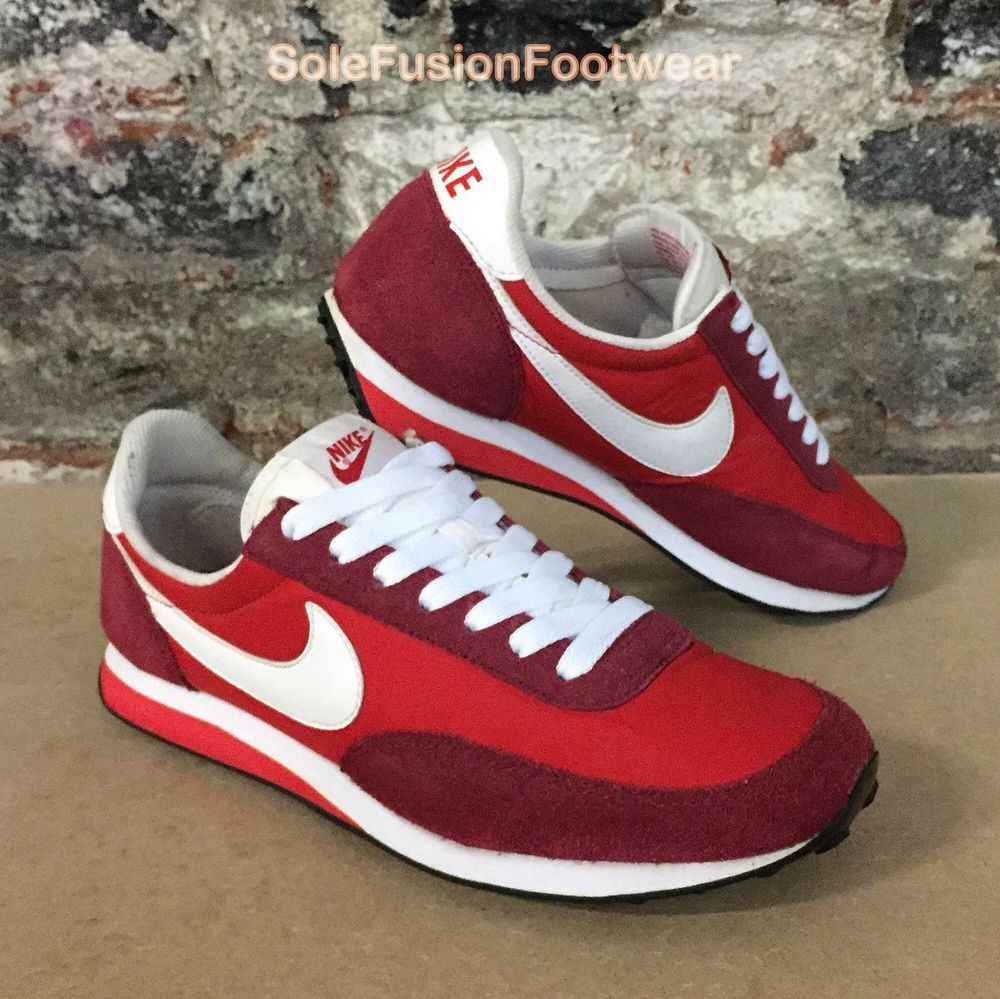 outlet store d0c65 06db0 Nike Mens ELITE Running Trainers Red White size UK 7 Waffle Sneakers US 8  EU 41   eBay