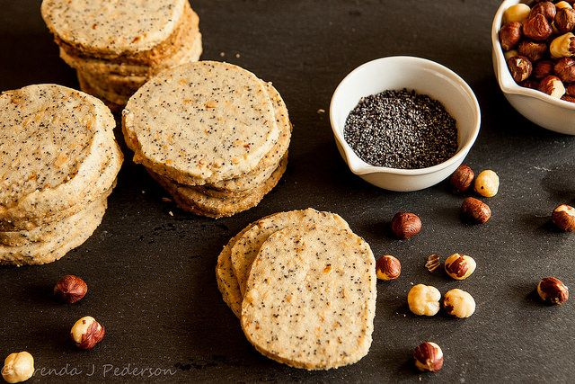 "Hazelnut Poppy Seed Cookies ~ via this blog, ""Culinary Fool""."