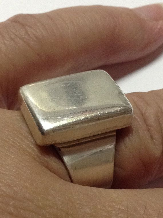 Mens Heavy MODERNIST STERLING SILVER  Mexico by CollectibleKeepers