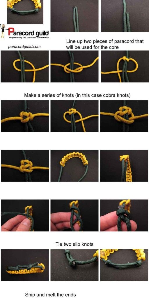 Adjule Paracord Bracelet Instructions Projects