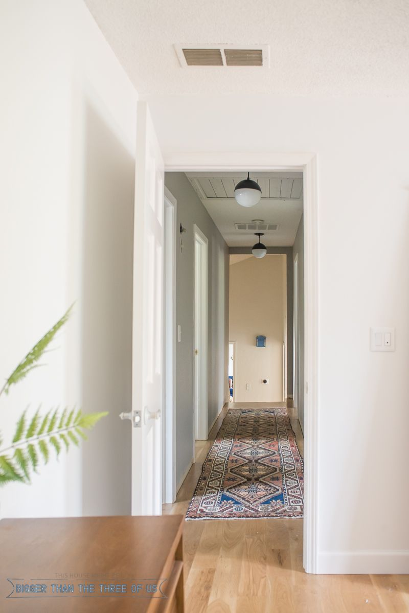 Updating a hallway with a vintage persian rug from esalerugs