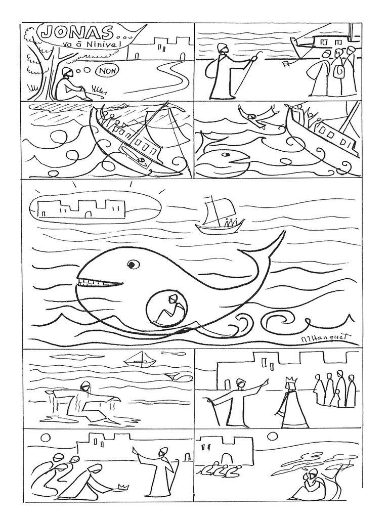 BD et visuels : Jonas et le grand poisson | Dibujos Biblicos ...