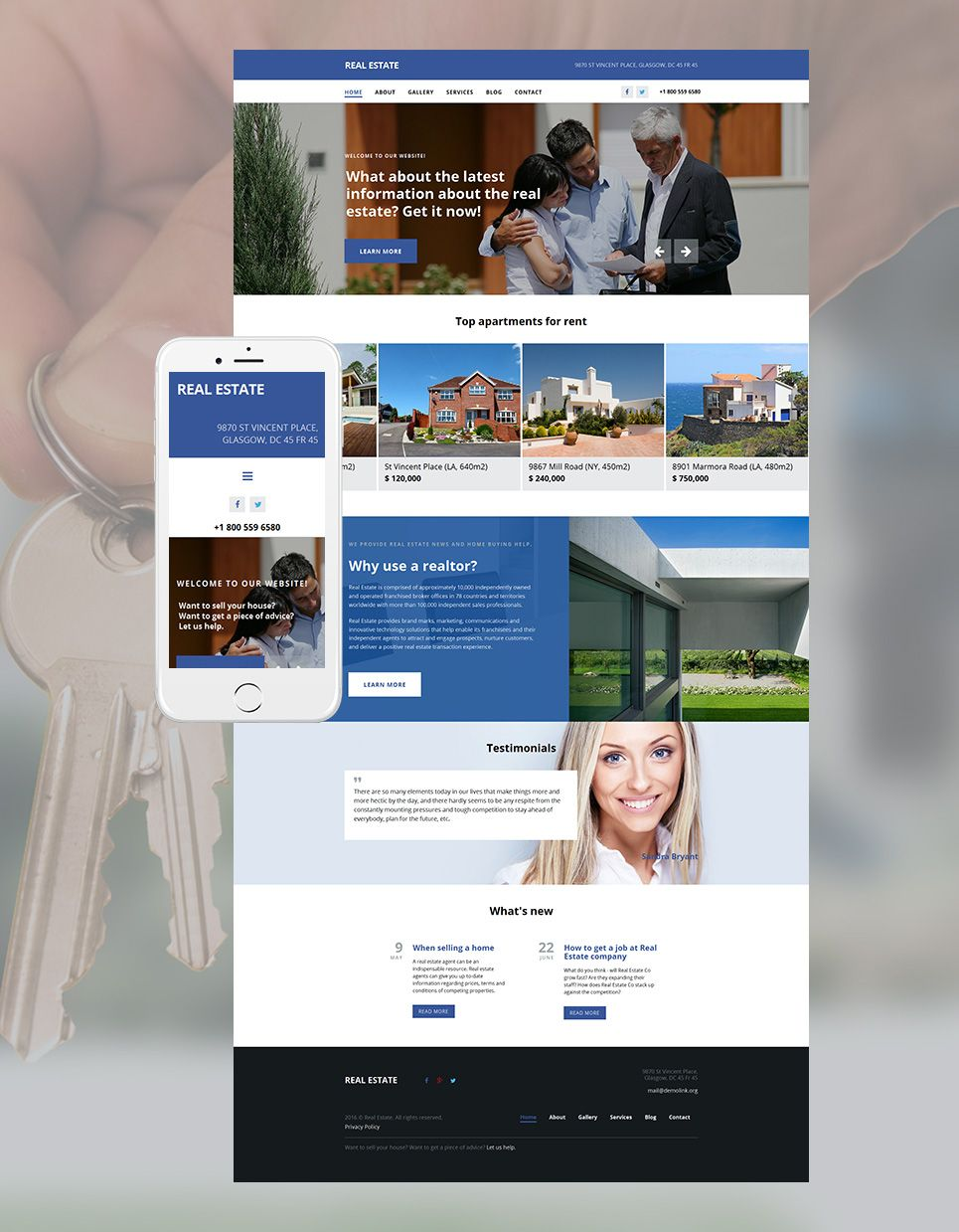 Real Estate Agency Responsive Moto CMS 3 Template #58546 ...