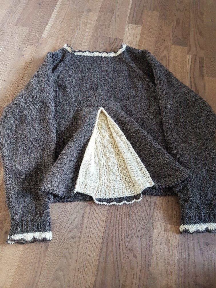 #Pullover #Zopf und #Falte gestrickt #stricken #ZopfundFalte passend zum Rock nach Art der #Rockmacherin #Dirndl #Tracht #Werdenfelserschafwolle #Schafwolle
