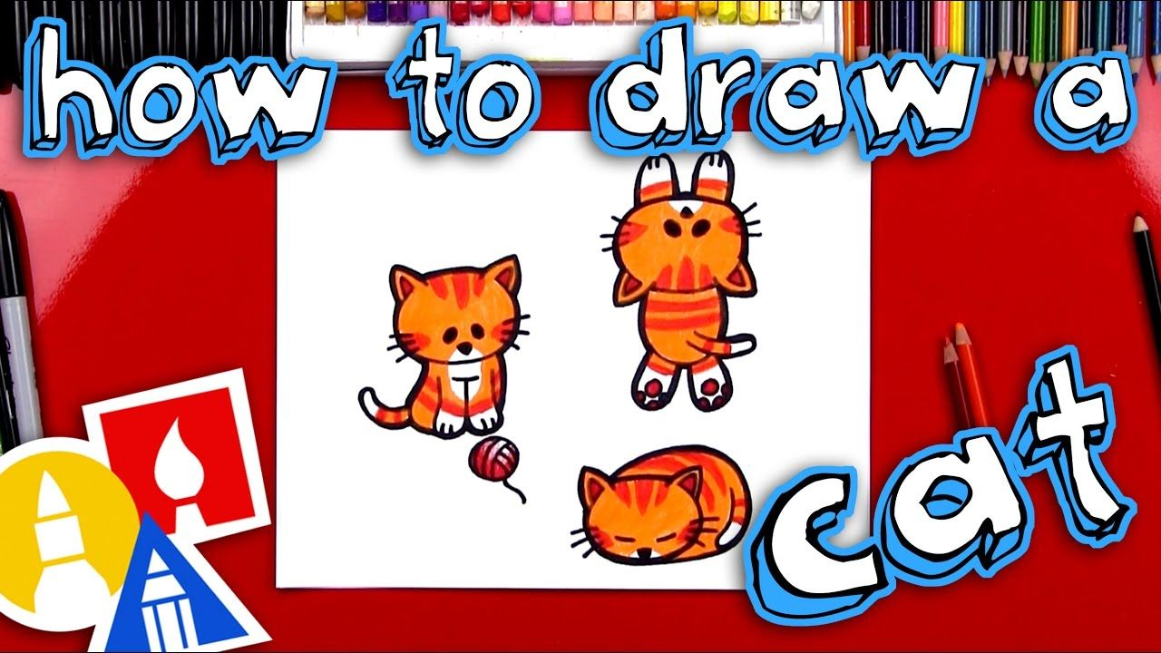 How to draw a cartoon cat cartoon drawing for kids art