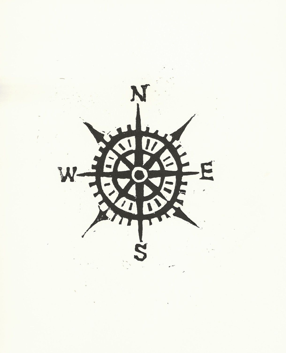 Compass Print Or Possible Tattoo Design