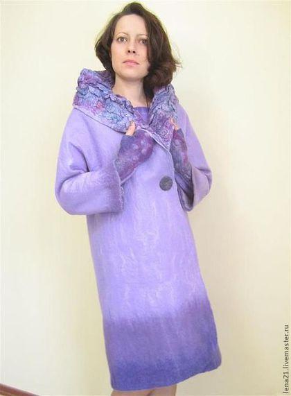 Верхняя одежда ручной работы. Ярмарка Мастеров - ручная работа. Купить  сиреневое пальто(возможно e0ca223f2a8