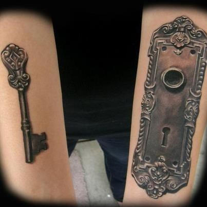40 inspirational creative tattoo ideas for men and women for Door key design