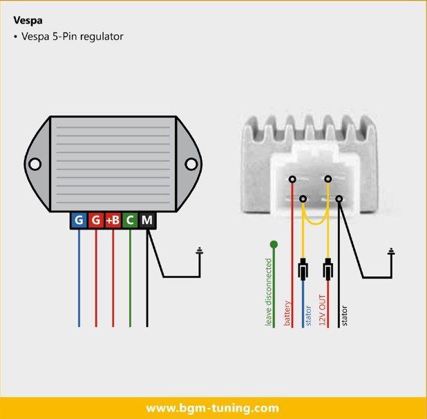 BGM VOLTAGE REGULATOR Vespa Honda SH634A12 Vespa PX Pinterest