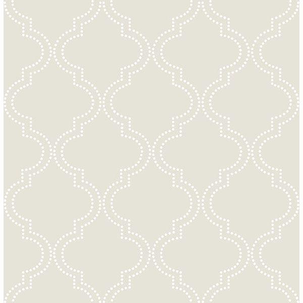 Nu2094 Ramie Linen Peel And Stick Wallpaper By Nuwallpaper Quatrefoil Wallpaper Nuwallpaper Trellis Wallpaper