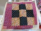 For Sale - Antique Early Vintage Old Textile HAND STITCHED DOLL'S QUILT 11.75 x 13.75