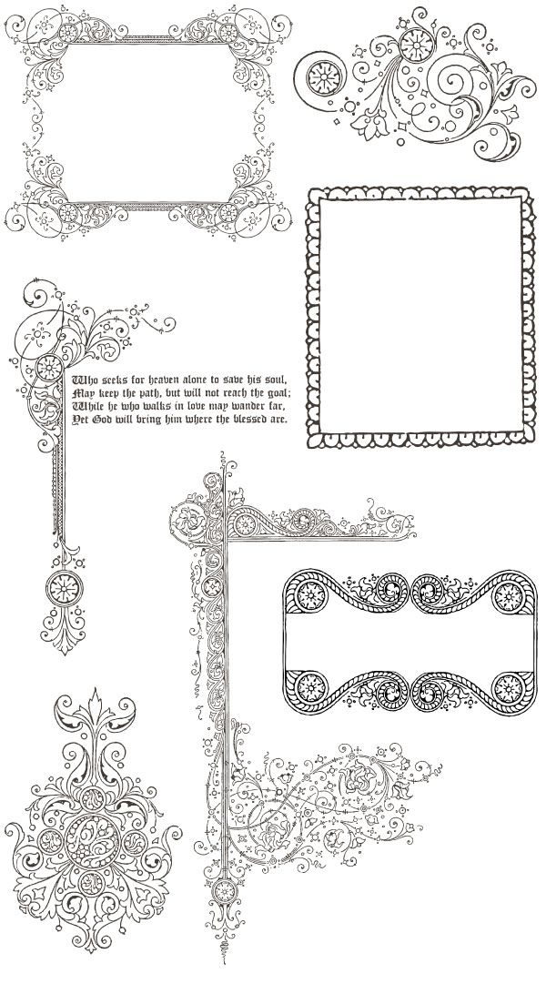 200 Free Vintage Ornaments Frames And Borders Graphic Design And