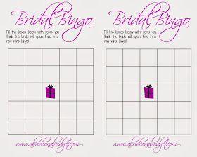 A Bride On A Budget: Bridal Bingo (And a free printable)