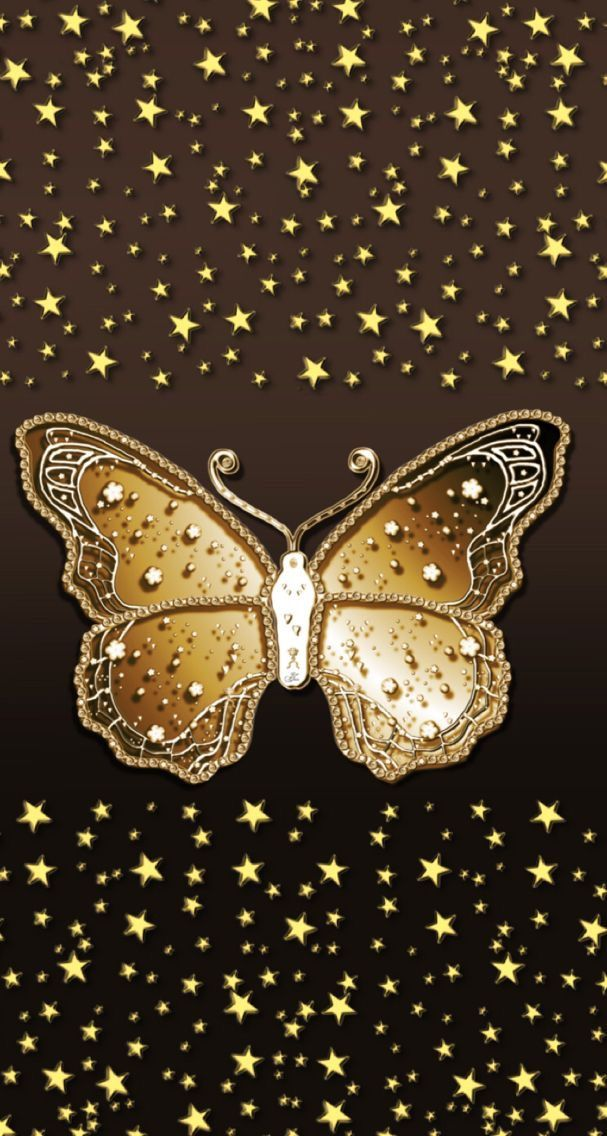 Pin By Keena Proctor On Gold And Brown Butterfly Wallpaper Bling Wallpaper Golden Wallpaper