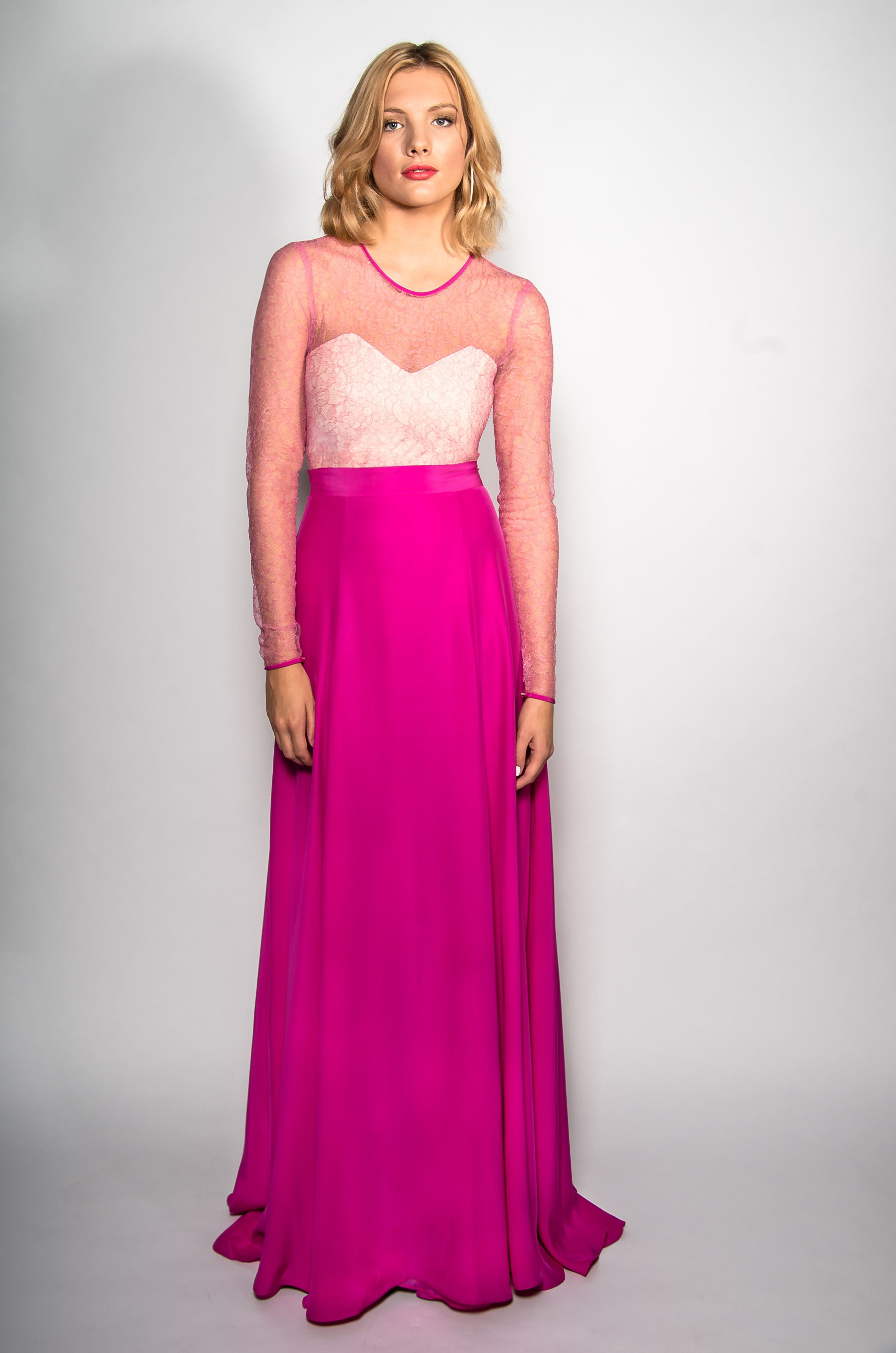 Belle & Bunty Red Carpet Collection ~ Hot pink silk crepe Darcey ...