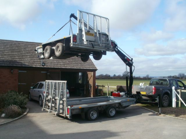 Ifor Williams Trailer Crane Bailey Forestry Engineering