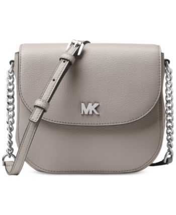 296eef6f5e3 Michael Michael Kors Pebble Leather Half Dome Crossbody - Black in ...