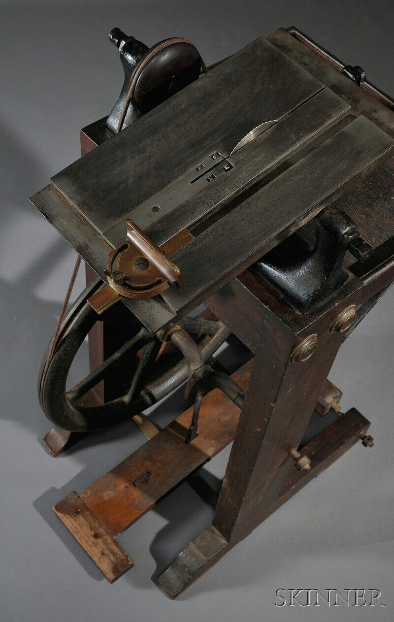 Treadle Powered Table Saw Antique Woodworking Tools Antique