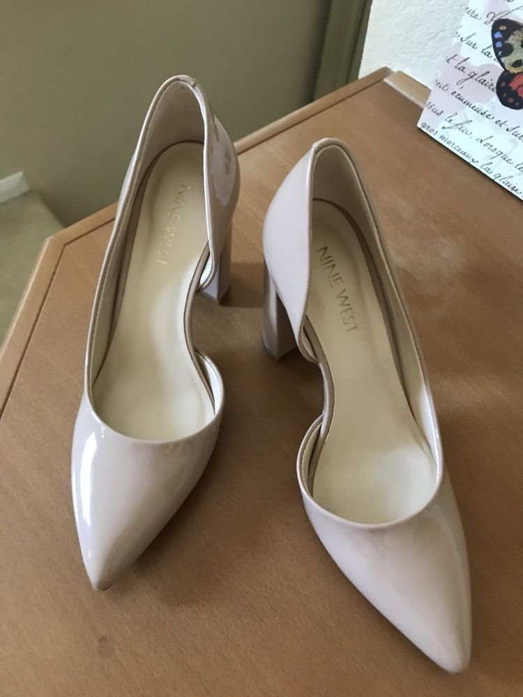 e199bcc835 Nine West Anisa d'Orsay Nude Pointed Toe Dress Pumps Shoes Sz 4M /34 ...