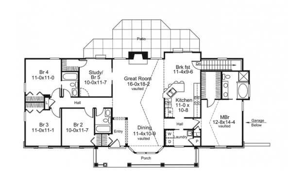 Farmhouse Style House Plan 4 Beds 3 Baths 1941 Sq Ft Plan 57 356 Ranch House Plans House Floor Plans Floor Plans