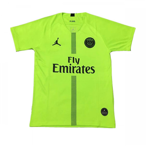 cf53388fcb4 18-19 PSG JORDAN Goalkeeper Green Soccer Jersey Shirt | France Ligue ...