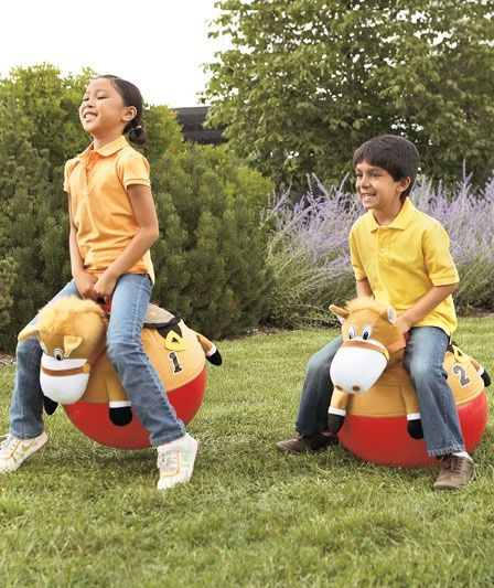 Giddy Up Racing Horse Hoppers for Cowboy Theme Party Game Idea