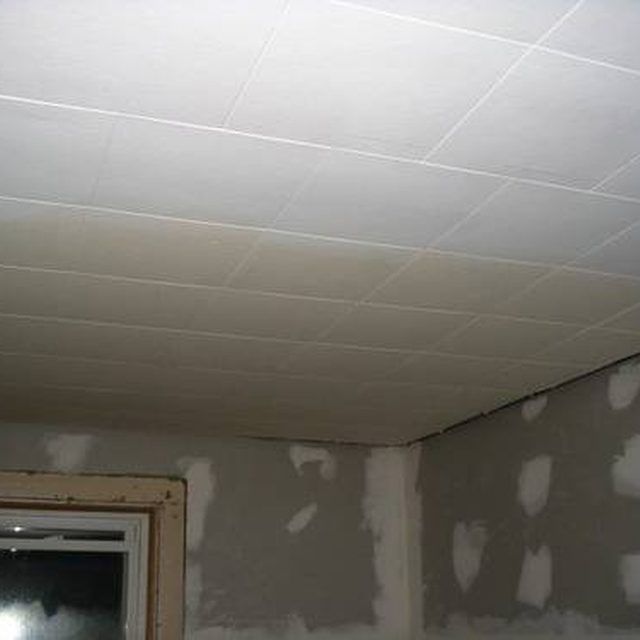 How To Paint Old Ceiling Tiles Hunker Dropped Ceiling Drop Ceiling Tiles Ceiling Tiles Diy