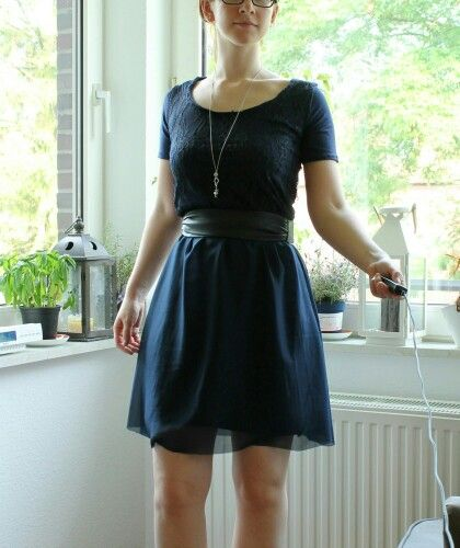 Cocktail-Kleid: eigenes Schnittmuster, Spitze, Jersey, Chiffon ...