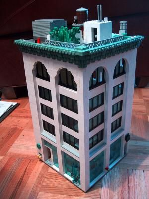 White Building With Arched Windows A Lego Creation By Sean Kenney